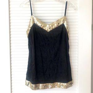 PERFECT Gold Embellished Camisole NWOT!